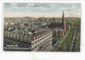 View From City Building Looking N. E. Lewiston, Maine PU-1907