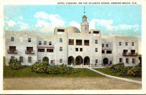 Florida Ormond Beach Hotel Coquina On The Atlantic Ocean Curteich