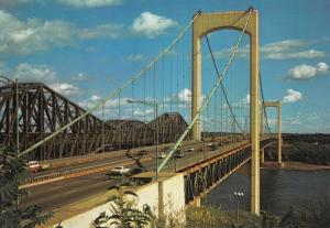 QUEBEC, Quebec, Canada, PU-1984; Bridges joining shores of the Saint Laurent