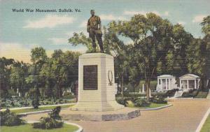 Virginia Suffolk World War Monument