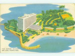 Pre-1980 HILTON HOTEL San Juan Puerto Rico PR HQ5606