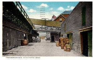Massachusetts Gloucester  Fish Warehouses
