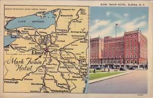 New York Elmira Mark Twain Hotel1940