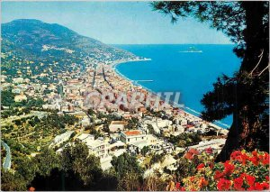 Modern Postcard Alassio Riviera of Flowers General view