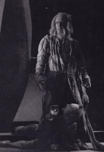 Michael Redgrave The Fool in King Lear Shakespeare Theatre Postcard