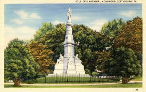 PA - Gettysburg. Soldiers' National Monument