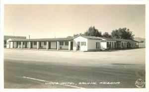 Frasher Salome Arizona Van's Motel 1940s RPPC Photo Postcard 3568