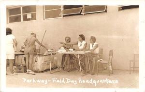 Fort Lauderdale FL Parkway Field Day HQ Women Linen Basket RPPC Postcard