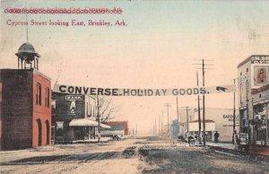 Brinkley Converse Arkansas Cypress Street Business District Postcard AA199