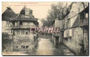 Old Postcard Salies de Béarn The Saleys Old Houses