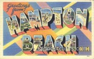 Hampton Beach, NH, USA Large Letter Town Unused