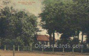 Central Park, Lawton, MI, Michigan, USA Train Railroad Station Depot 1910 lig...