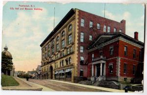 City Hall & Masonic Building, Pawtucker RI