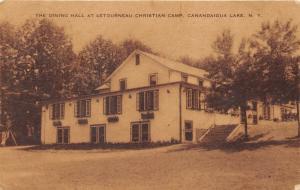 Canandaigua New York~Letourneau Christian Camp Dining Hall~1948 Postcard
