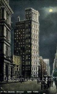 St. Paul Bldg Times Square NY Postal Used Unknown, Missing Stamp