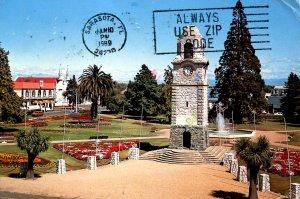 New Zealand - Blenheim. Seymour Square Gardens Clock Tower