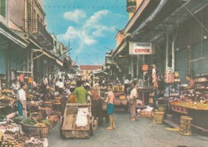 The Movement In The Morning At The Market,1950-1960s ;