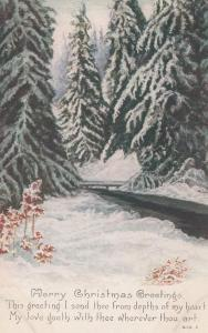 Merry Christmas Greetings - Owen Card Co. - DB