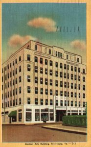 Petersburg, VA, Medical Arts Building, 1946 Linen Vintage Postcard h4128