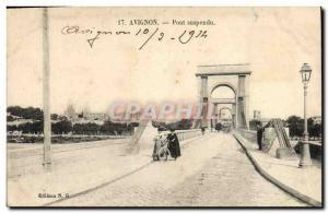 Old Postcard Avignon Velo Cycle Suspension Bridge