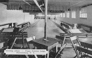 Narrowsburg New York Peggy Runway Lodge Bowling Alley Vintage Postcard JJ658885