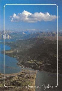Canada Carcross Yukon Aerial view Mountains Lakes