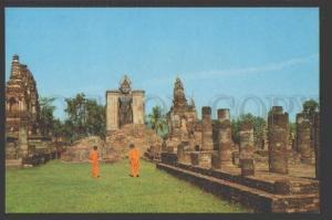 109133 THAILAND SUKOTHAI Ancient Remains of Wat Mahathat Old