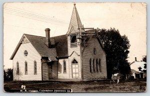 Columbus Junction Iowa~Methodist Episcopal ME Church~JG Baker Pub~1908 RPPC