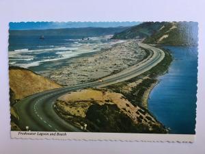 Redwood Highway at Freshwater Lagoon CALIFORNIA Vintage Chrome Postcard