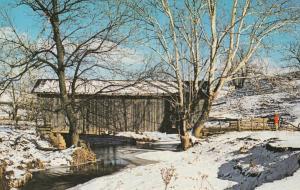Winter View of Beaver Creek Covered Bridge near Batesville, Ohio
