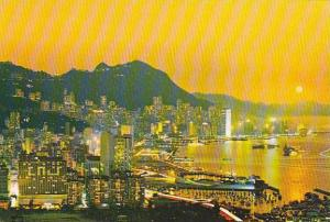 Hong Kong Beautiful Dusk Scene Of Victoria