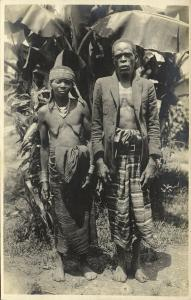 Native African Elderly Couple, Pygmy (?) People, Necklace Jewelry (1920s) RPPC