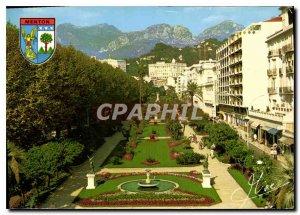 Modern Postcard Menton Alpes Maritimes Gardens Bioves