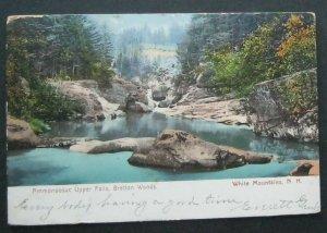 Ammonoosuc Upper Falls Bretton Woods NH 1910 New England News Co 5906 UDB