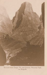 RP: Sentinel from Gorge , Mt.aux-Sources , National Park , via Bergville , So...