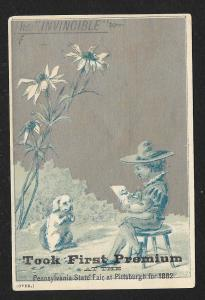 VICTORIAN TRADE CARD Armstrong Hollowell & Wise Stove