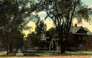 Galesburg, Illinois - The tree lined North Chamber Street - c1908