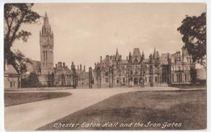 Cheshire; Chester, Eaton Hall & The Iron Gates PPC By Frith, Unposted