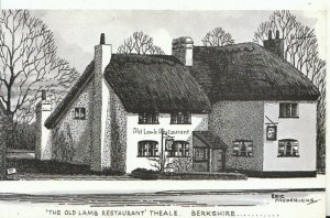 Berkshire Postcard - The Old Lamb Restaurant - Theale - Ref 16815A