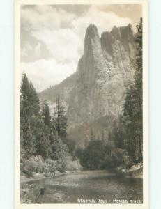 Pre-1949 rppc NICE VIEW Yosemite National Park - By Stockton & Modesto CA i9745