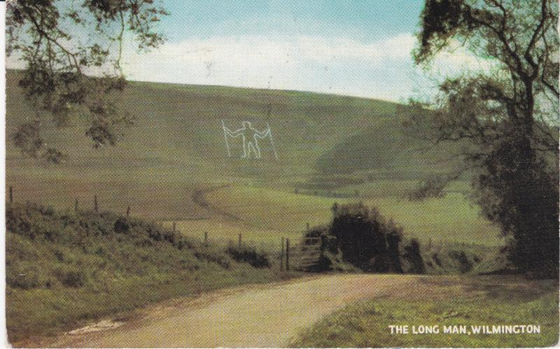 Post Card Sussex Wilmington The Long Man