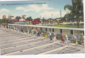 Florida Lakeland Playing Shuffleboard In Civic Center