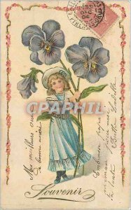 Souvenir Postcard Old Child