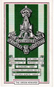 Cigarette Cards Gallaher ARMY BADGES No 32 The Green Howards