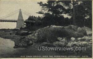 Old Chain Bridge Amesbury MA Unused