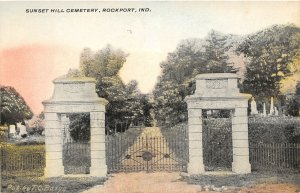F93/ Rockport Indiana Postcard c1910 Sunset Hill Cemetery