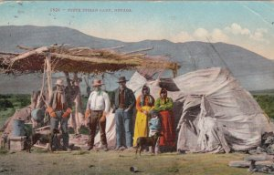 Piute Indian Camp , Nevada , 1909
