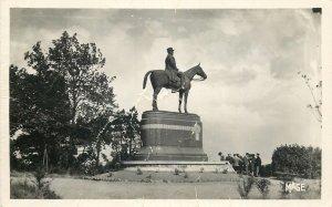 Postcard France Mont Cassel Marshall Foch equestrian statue