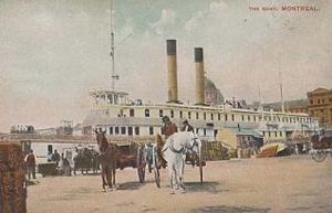 The Quay Montreal Antique Canada Canadian Postcard