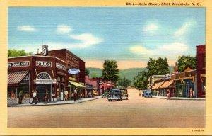 North Carolina Black Mountain Main Street Curteich